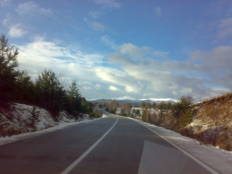 The first snow in the south of Serbia